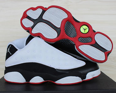 Air Jordan Retro 13 Low White Black Red France