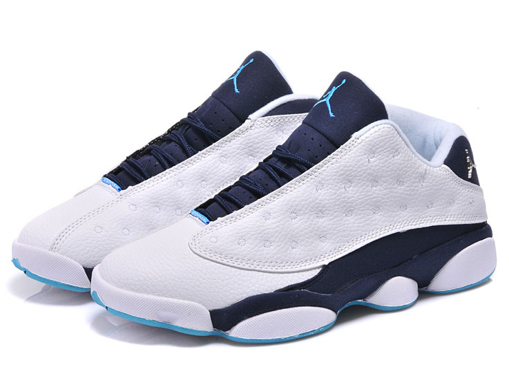 Air Jordan Retro 13 Low White Dark Blue Norway