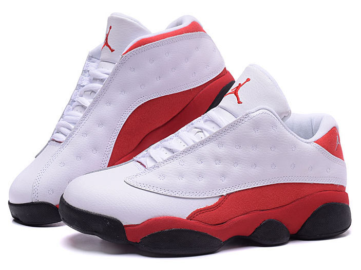 Air Jordan Retro 13 Low White Red Factory Outlet