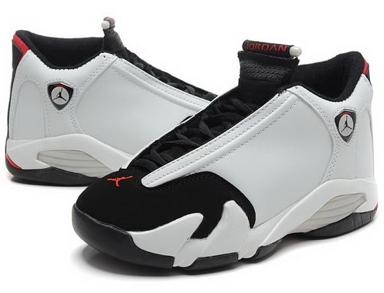Air Jordan Retro 14 White Black Red Outlet Store