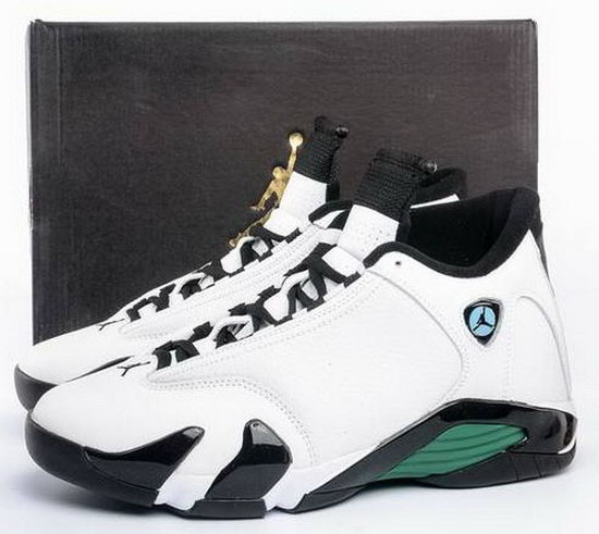 Air Jordan Retro 14 White Green Promo Code