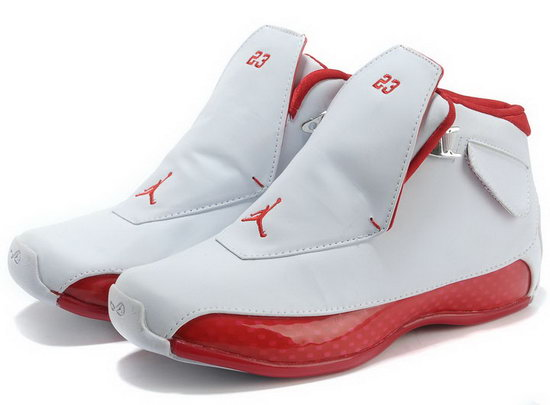 Air Jordan Retro 18 White Red Hong Kong