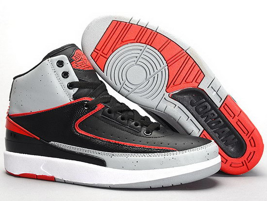 Air Jordan Retro 2 Black Grey Red Taiwan