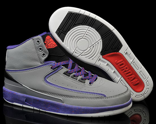 Air Jordan Retro 2 Grey Purple Factory Outlet