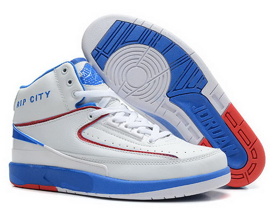 Air Jordan Retro 2 White Blue Red Factory