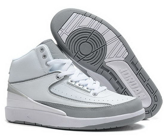Air Jordan Retro 2 White Grey Low Price