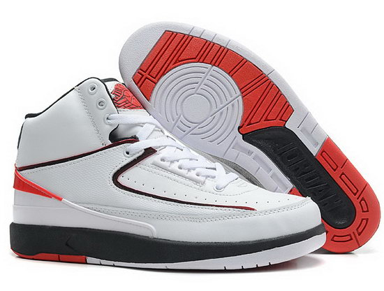 Air Jordan Retro 2 White Red Black Italy