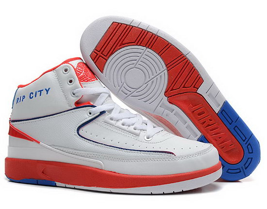 Air Jordan Retro 2 White Red Blue Coupon
