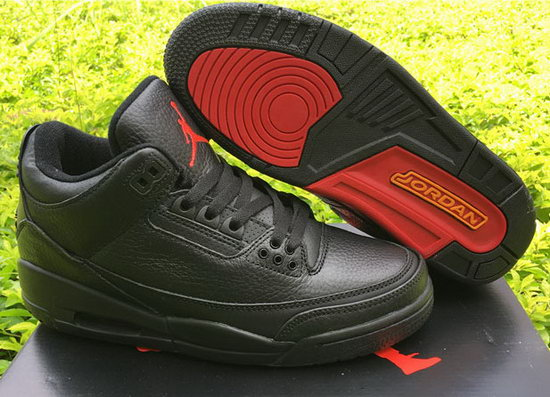 Air Jordan Retro 3 Black Red Grey
