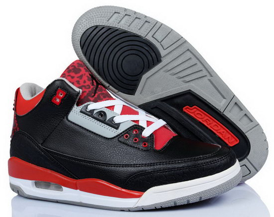 Air Jordan Retro 3 Black Red Factory Store