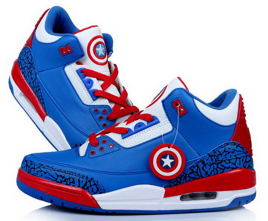 Air Jordan Retro 3 Captain America Reduced