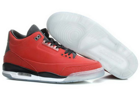 Air Jordan Retro 3 Red Black Factory Outlet