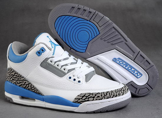 Air Jordan Retro 3 White Blue Grey Leopard Canada