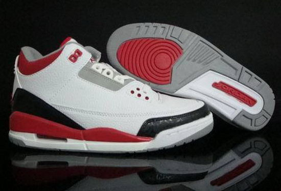 Air Jordan Retro 3 White Red Black Online Store