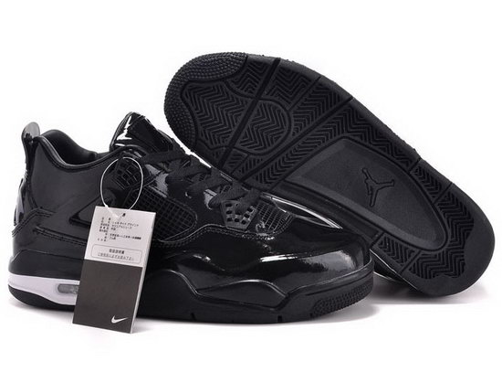 Air Jordan Retro 4 All Black 3m Reduced