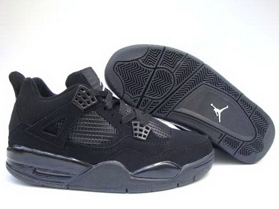 Air Jordan Retro 4 All Black Online