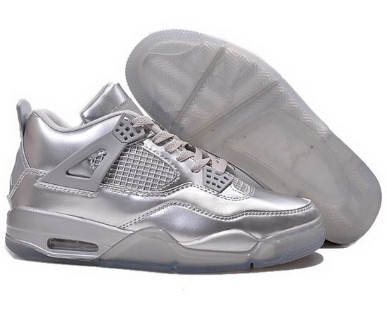 Air Jordan Retro 4 All Silver France