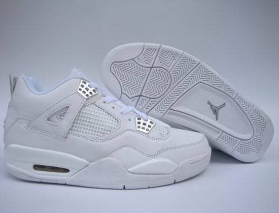 Air Jordan Retro 4 All White Taiwan