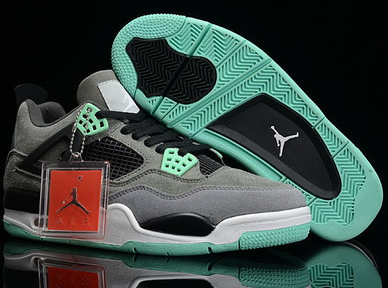 Air Jordan Retro 4 Anti-fur Grey Black Mint Green Online Shop