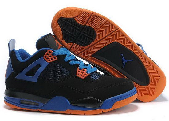 Air Jordan Retro 4 Black Blue Orange Germany