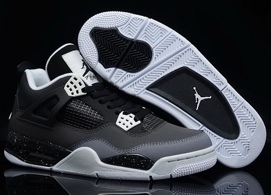 Air Jordan Retro 4 Black Grey Low Price
