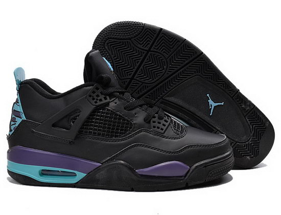Air Jordan Retro 4 Black Purple Jade Sweden