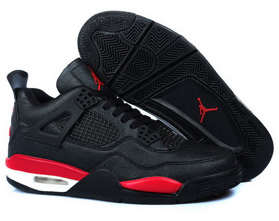 Air Jordan Retro 4 Black Red Space Cracks Canada