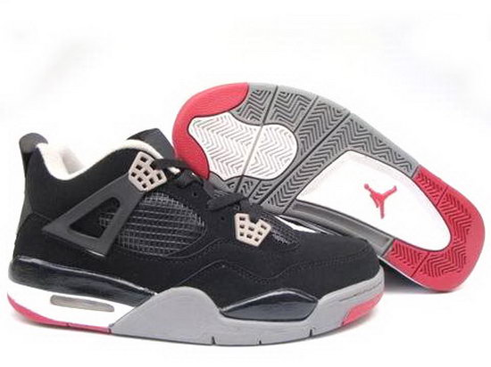 Air Jordan Retro 4 Black Red Uk