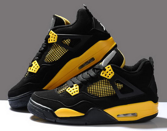 Air Jordan Retro 4 Black Yellow Switzerland