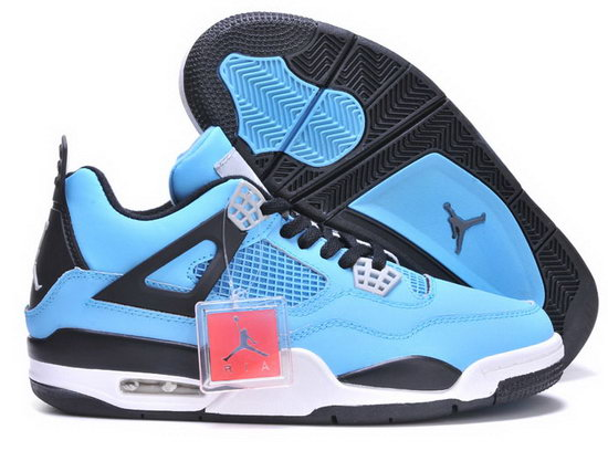 Air Jordan Retro 4 Blue Black Sale