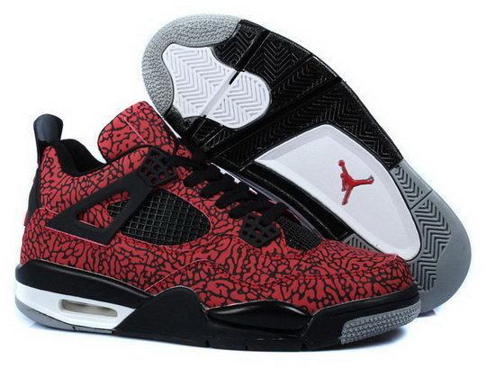 Air Jordan Retro 4 Red Space Cracks Black Czech