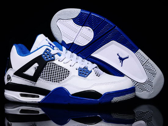 Air Jordan Retro 4 White Black Blue Best Price