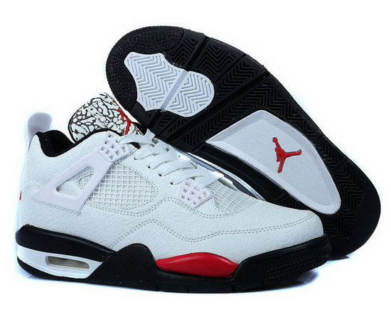 Air Jordan Retro 4 White Black Space Cracks Discount