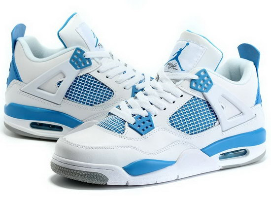 Air Jordan Retro 4 White Blue Factory Store