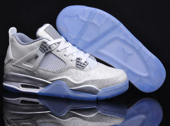 Air Jordan Retro 4 White Grey Ireland
