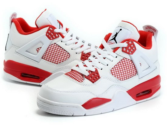 Air Jordan Retro 4 White Red Online