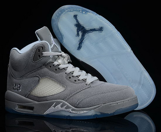 Air Jordan Retro 5 Anti-fur Grey White Denmark