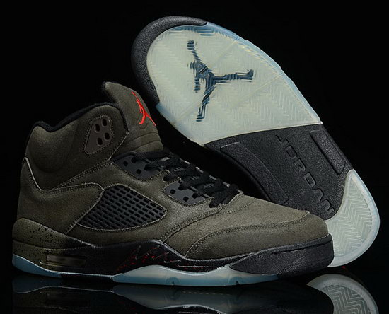 Air Jordan Retro 5 Anti-fur Navy Green Black