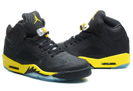 Air Jordan Retro 5 Black Burst Crack Yellow On Sale