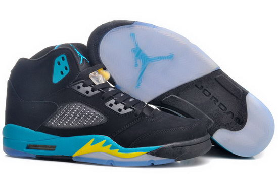 Air Jordan Retro 5 Black Gamma Blue Greece