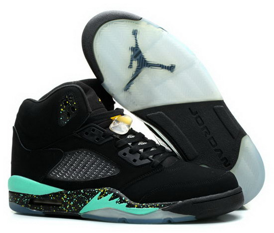 Air Jordan Retro 5 Black Mint Green France