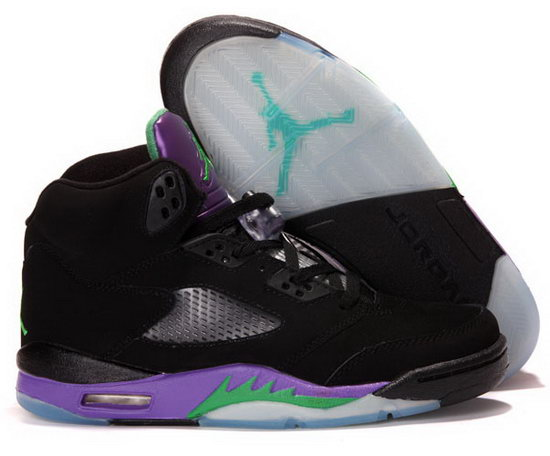 Air Jordan Retro 5 Black Purple Green Taiwan