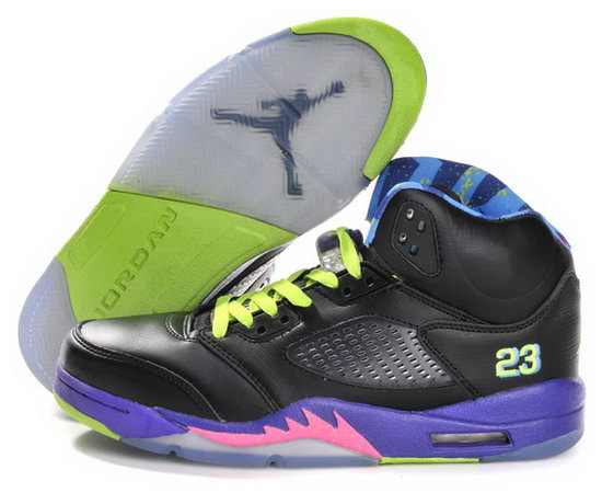 Air Jordan Retro 5 Black Purple Pink Norway
