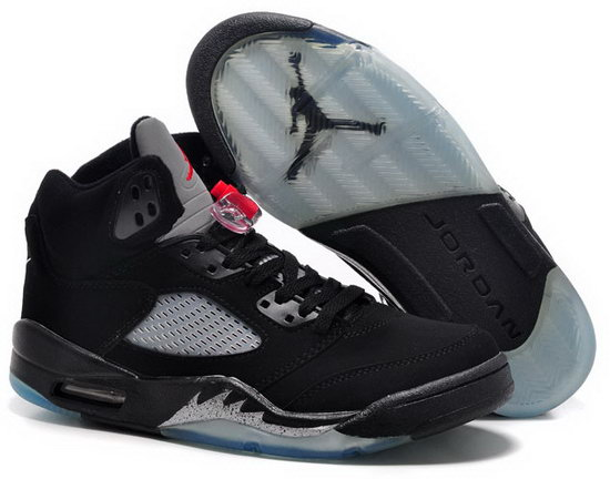 Air Jordan Retro 5 Black White Factory Outlet