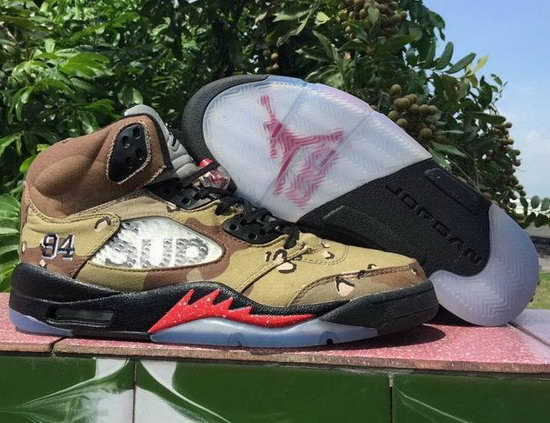 Air Jordan Retro 5 Brown Sand Red Low Price