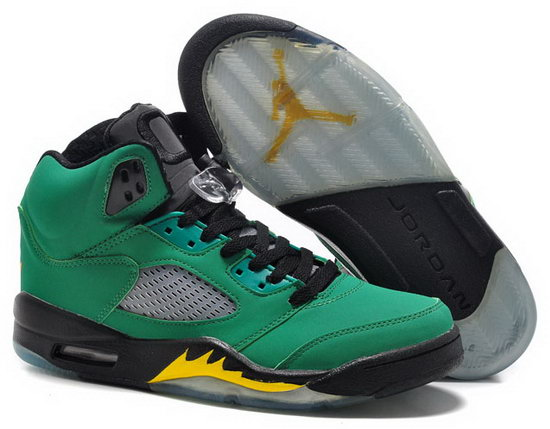 Air Jordan Retro 5 Green Black Yellow Italy