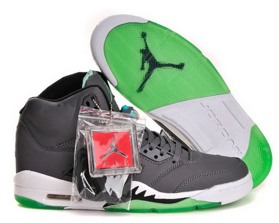 Air Jordan Retro 5 Grey Green Canada