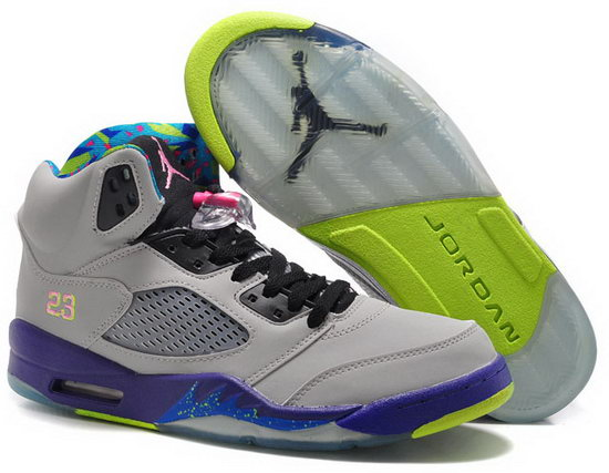 Air Jordan Retro 5 Grey Purple Jade Poland