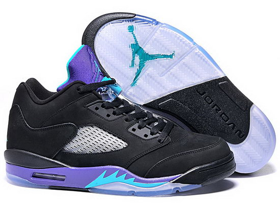 Air Jordan Retro 5 Low Black Purple Online Store