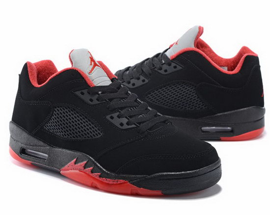 Air Jordan Retro 5 Low Black Red Portugal